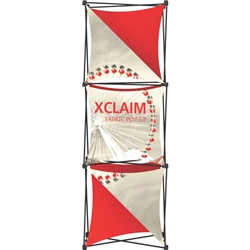 2.5ft Xclaim 3-D PopUp Table Top Display Kit 04 with Full Fabric Graphics. Portable displays and exhibits. Several different styles are available, including pop up frames with stretch fabric or fold up panels with custom graphics.