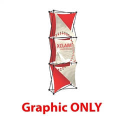 Replacement Fabric for 2.5ft Xclaim 3-D PopUp Table Top Display Kit 04. Portable displays and exhibits. Several different styles are available, including pop up frames with stretch fabric or fold up panels with custom graphics.
