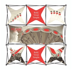 8ft Xclaim Full Height Fabric Popup Display Kit 06. Portable displays and exhibits. Several different styles are available, including pop up frames with stretch fabric or fold up panels with custom graphics.