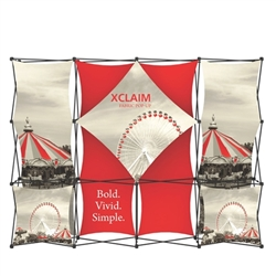10ft Xclaim Full Height Fabric Popup Display Kit 01. Portable tabletop displays and exhibits. Several different styles are available, including pop up frames with stretch fabric or fold up panels with custom graphics.