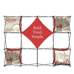 10ft Xclaim Full Height Fabric Popup Display Kit 02. Portable tabletop displays and exhibits. Several different styles are available, including pop up frames with stretch fabric or fold up panels with custom graphics.