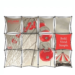 10ft Xclaim Full Height Fabric Popup Display Kit 04. Portable displays and exhibits. Several different styles are available, including pop up frames with stretch fabric or fold up panels with custom graphics.