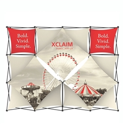 10ft Xclaim Full Height Fabric Popup Display Kit 05. Portable displays and exhibits. Several different styles are available, including pop up frames with stretch fabric or fold up panels with custom graphics.
