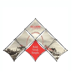 10ft Xclaim 6 Quad Pyramid Fabric Popup Display Kit 01. Portable displays and exhibits. Several different styles are available, including pop up frames with stretch fabric or fold up panels