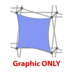 2,5ft Xclaim 1 Quad All Front Fabric Popup Display - Graphic Only. Portable displays and exhibits. Several different styles are available, including pop up frames with stretch fabric or fold up panels