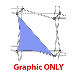 2,5ft Xclaim 1 Quad All Front Triangle Fabric Popup Display - Graphic Only. Portable displays and exhibits. Several different styles are available, including pop up frames with stretch fabric or fold up panels