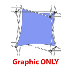 2,5ft Xclaim 1 Quad Single Twist Fabric Popup Display - Graphic Only. Portable displays and exhibits. Several different styles are available, including pop up frames with stretch fabric or fold up panels
