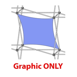 2,5ft Xclaim 1 Quad Vertical Twist Fabric Popup Display - Graphic Only. Portable displays and exhibits. Several different styles are available, including pop up frames with stretch fabric or fold up panels