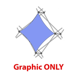2,5ft Xclaim 1 Quad Pyramid Flat Diamond Fabric Popup Display - Graphic Only Portable displays and exhibits. Several different styles are available, including pop up frames with stretch fabric or fold up panels