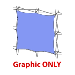 5ft Xclaim 2x2 Quad Front Fabric Popup Display - Graphic Only. Portable displays and exhibits. Several different styles are available, including pop up frames with stretch fabric or fold up panels