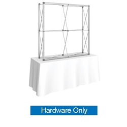 5ft Embrace Square Tabletop Push-Fit Tension Fabric Display with Front Graphic Frame Only. Portable tabletop displays and exhibits. Several different styles are available, including pop up frames with stretch fabric or fold up panels with custom graphics.