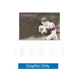 Replacement Fabric for 8ft Embrace Square Tabletop Push-Fit Tension Fabric Display with Front Graphic. Portable tabletop displays and exhibits. Several different styles are available, including pop up frames with stretch fabric or fold up panel