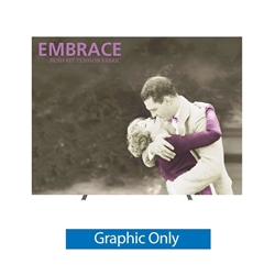 Replacement Fabric for 10ft Embrace Full Height Push-Fit Tension Fabric Display with Front Graphic. Portable tabletop displays and exhibits. Several different styles are available, including pop up frames with stretch fabric or fold up panels