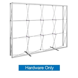 10ft Embrace Full Height Push-Fit Tension Fabric Display with Front Graphic Frame Only. Portable tabletop displays and exhibits. Several different styles are available, including pop up frames with stretch fabric or fold up panels