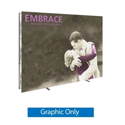 11ft x 7.5ft (4x3) Embrace Left L-Shape Tension Fabric Popup SEG Display (Front Graphic Only). Portable tabletop displays and exhibits. Several different styles are available, including pop up frames with stretch fabric or fold up panels