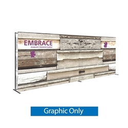 Single-Sided Graphic for 20ft Embrace Full Height Push-fit Tension Fabric Display with Front Graphic. Portable tabletop displays and exhibits. Several different styles are available, including pop up frames with stretch fabric or fold up panels