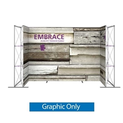 Single-Sided Graphic for 14ft Embrace U-Shape Push-Fit Tension Fabric Display with Full Fitted Graphic. Portable tabletop displays and exhibits. Several different styles are available, including pop up frames with stretch fabric or fold up panels