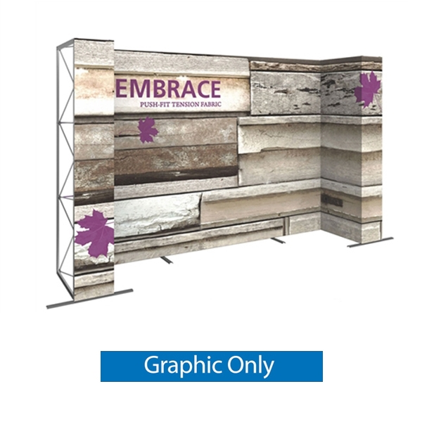 Double-Sided Graphic for 14ft Embrace U-Shape Push-Fit Tension Fabric Display with Full Fitted Graphic. Portable tabletop displays and exhibits. Several different styles are available, including pop up frames with stretch fabric or fold up panels