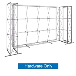 14ft Embrace U-Shape Push-Fit Tension Fabric Display with Single-Sided Full Fitted Graphic Hardware Only. Portable tabletop displays and exhibits. Several different styles are available, including pop up frames with stretch fabric or fold up panels