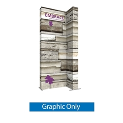 Single-Sided Graphic for 7ft Embrace Wide Stacking Push-Fit Tension Fabric Display with Full Fitted Graphic. Portable tabletop displays and exhibits. Several different styles are available, including pop up frames with stretch fabric or fold up panels