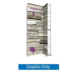 Replacement Double-Sided Graphic for 7ft Embrace Wide Stacking Push-Fit Tension Fabric Display with Front Graphic. Portable tabletop displays and exhibits. Several different styles are available, including pop up frames with stretch fabric or fold up pane