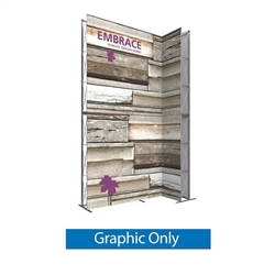 Single-Sided Graphic for 10ft Embrace Wide Stacking Push-Fit Tension Fabric Display with Full Fitted Graphic. Portable tabletop displays and exhibits. Several different styles are available, including pop up frames with stretch fabric or fold up panels
