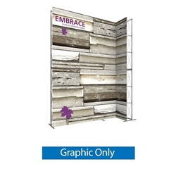 Single-Sided Graphic for 12ft Embrace Wide Stacking Push-Fit Tension Fabric Display with Front Graphic. Portable tabletop displays and exhibits. Several different styles are available, including pop up frames with stretch fabric or fold up panels