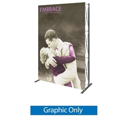 Replacement Fabric for 5ft Embrace Push-Fit Tension Fabric Display with Front Graphic. Portable tabletop displays and exhibits. Several different styles are available, including pop up frames with stretch fabric or fold up panel
