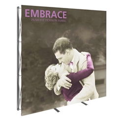 8ft Embrace Full Height Push-Fit Tension Fabric Display with Front Graphic. Portable tabletop displays and exhibits. Several different styles are available, including pop up frames with stretch fabric or fold up panels