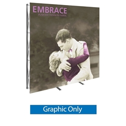 Replacement Fabric for 8ft Embrace Full Height Push-Fit Tension Fabric Display with Front Graphic. Portable tabletop displays and exhibits. Several different styles are available, including pop up frames with stretch fabric or fold up panel
