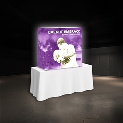 5ft x 5ft Embrace Backlit 2X2 Light Display - Single Sided. Portable tabletop displays and exhibits. Several different styles are available, including pop up frames with stretch fabric or fold up panels