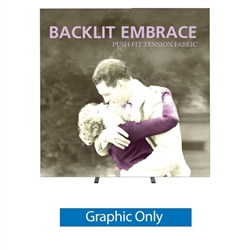 7,5ft Embrace Backlit 3X3 Light Display - Single Sided Graphic Only. Portable tabletop displays and exhibits. Several different styles are available, including pop up frames with stretch fabric or fold up panels