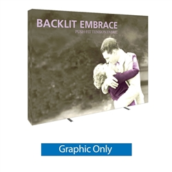 10ft Embrace Backlit 4x3 Light Display- Single Sided Graphic Only. Portable tabletop displays and exhibits. Several different styles are available, including pop up frames with stretch fabric or fold up panels