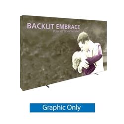 12.5ft Embrace Backlit 5x3 Light Display - Single Sided Graphic Only. Portable tabletop displays and exhibits. Several different styles are available, including pop up frames with stretch fabric or fold up panels