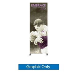 2.5ft x 7ft Embrace Backlit 1x3 Light Display - Double-Sided Graphic Only