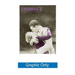 7.5ft x 5ft Embrace Extra Tall Push-Fit  with Single-Sided Front Graphic Only. Portable tabletop displays and exhibits.