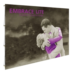 7.5ft x 5ft Embrace Extra Tall Push-Fit  with Double-Sided Full Fitted Graphic. Portable tabletop displays and exhibits.