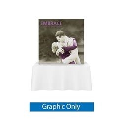 5ft x 5ft Embrace Square Tabletop Push-Fit  with Single-Sided Front Graphic. Portable tabletop displays and exhibits.