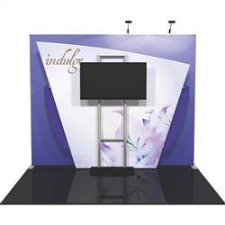 Vibe Kit Tension Fabric Displays is a collection of cleverly-designed state-of-the-art 10' exhibit booths. Vibe combines light-weight aluminum structures with pillowcase dye-sublimated printed fabric graphics for a truly unique appearance and experience.