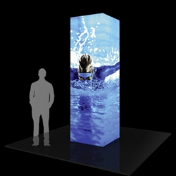 10ft Formulate Backlit Four Sided Tower are a great way to draw attention and captivate your audience at tradeshows, special events, or in a permanent environments. Formulate funnels have an hourglass shape, come in 12ft, 10ft and 8ft heights