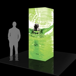 8ft Formulate Backlit Four Sided Tower are a great way to draw attention and captivate your audience at tradeshows, special events, or in a permanent environments. Formulate funnels have an hourglass shape, come in 12ft, 10ft and 8ft heights