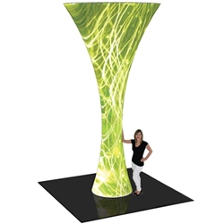 12ft Formulate Funnel Fabric Graphic Tower Display are a great way to draw attention and captivate your audience at tradeshows, special events, or in a permanent environments. Formulate funnels have an hourglass shape, come in 20ft, 16ft and 12ft heights