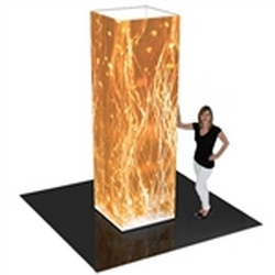 10ft Formulate Rectangular Fabric Graphic Towers Display Exhibit. When it comes to adding some much-needed texture to your trade booth, the Formulate line of towers is a great way of capturing your customers� attention at trade show or events