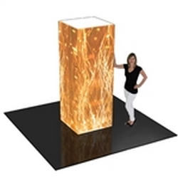 8ft Formulate Rectangular Fabric Graphic Towers Display Exhibit. When it comes to adding some much-needed texture to your trade booth, the Formulate line of towers is a great way of capturing your customers� attention at trade show or events
