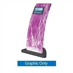 Replacement Fabric Formulate iPad Tablet Kiosk 04. Formulate iPad Stands are a series of banner displays that incorporate either a TV Monitor, iPad Tablet or both.  The popularity of incorporating an iPad or TV monitor into a trade show booth has increase