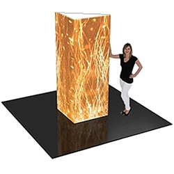 2ft x 8ft Formulate Right Triangle Towers offer tubing frames and fabric pillowcase graphics.  Perfect for trade shows, expos, showrooms, retail, conventions or any marketing space.