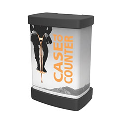 If you have more to transport than just your graphics, then our heavy-duty molded OCX Molded Shipping trade show Hard Case with Rollable Graphic Wrap is the perfect solution. OCX is a roto-molded protective shipping case for Coyote Popup displays