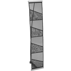 The LR1 Roll Up Literature Rack is easy to use and store, modular, rollable mesh fabric literature rack. Unbeatable when shipping space is an issue. Holds standard 8.5 x 11 literature, with 4 pockets. Carry bag included.