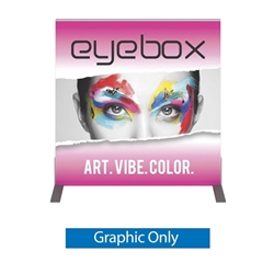 Single Side Graphic for 3ft x3ft Vector Frame Square Display 01-S. Vector Frame tradeshow booths are available in variety of display sizes & styles to meet any advertising. Back wall booth displays offer a variety of options for customizing booth.