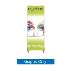 Push-fit Single Side Graphic for 3ft x 8ft Vector Frame Curved Display 01-CR. This display creates a versatile single or double-sided banner, backwall or interior display. Back wall booth displays offer a variety of options.